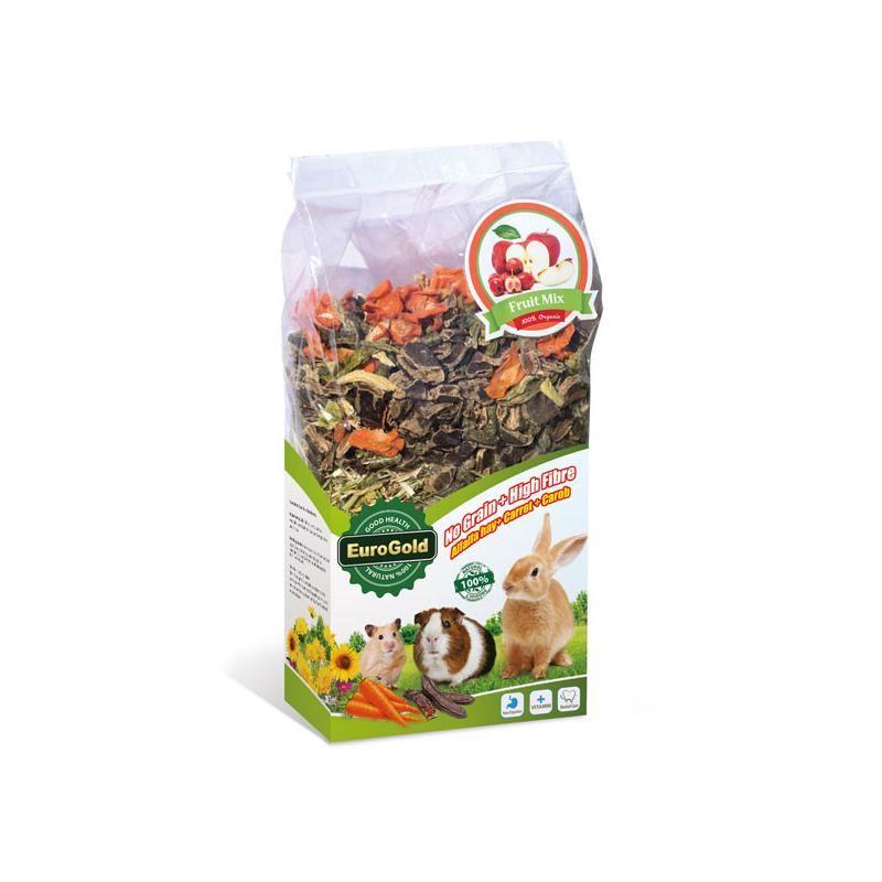 Eurogold Tahılsız Keçiboynuzu Havuç Meyve Karışım Kemirgen Yemi 400 gr