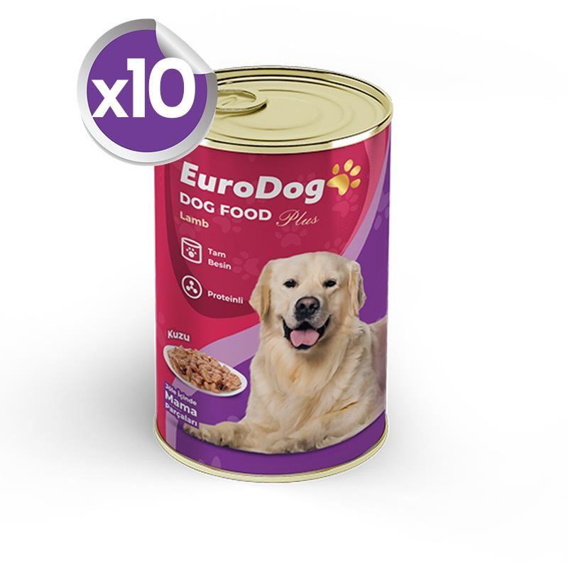 EuroDog Köpek Konservesi Kuzulu 415 Gr X 10