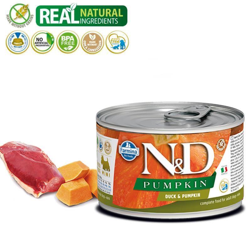 ND Pumpkin Mini Balkabaklı Ördekli Yetişkin Köpek Konservesi 140 Gr