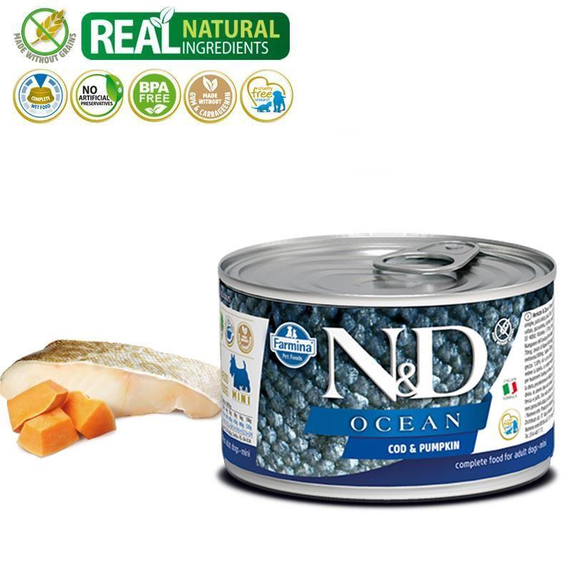 ND Ocean Mini Morina Balıklı Yetişkin Köpek Konservesi 140 Gr