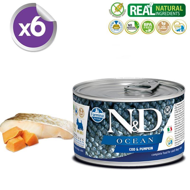 ND Ocean Mini Morina Balıklı Yetişkin Köpek Konservesi 140 Gr X 6