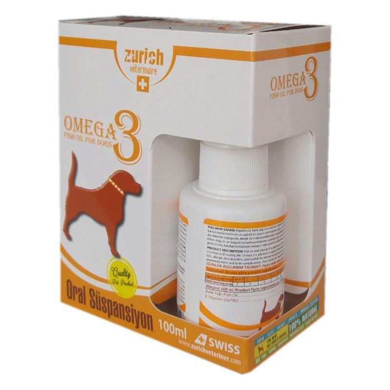 Zurich Dog Omega-3 Balık Yağı Tüy Döküm Önleyici/Tüy Sağlığı 100ml