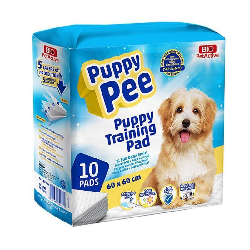 Bio Pet Active Puppy Pee Tuvalet Eğitim Çişi Pedi 60x60 Cm (10 Adet)