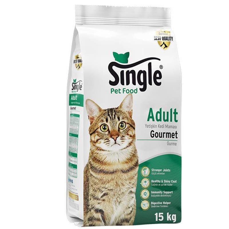Single Yetişkin Gurme Kedi Maması 15 Kg