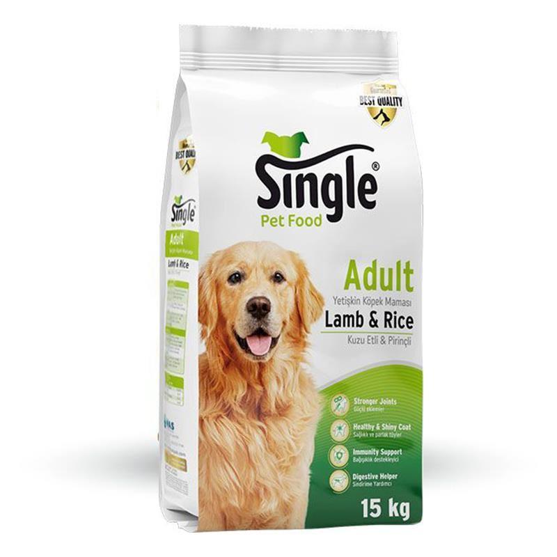 Single Kuzu Etli Köpek Maması 15 Kg