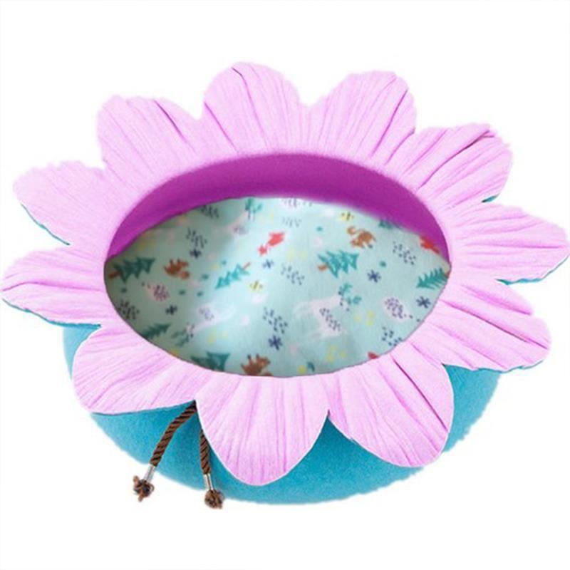 Pets Çiçek Şekilli Kedi Yatağı Turkuaz/Pembe 50 Cm