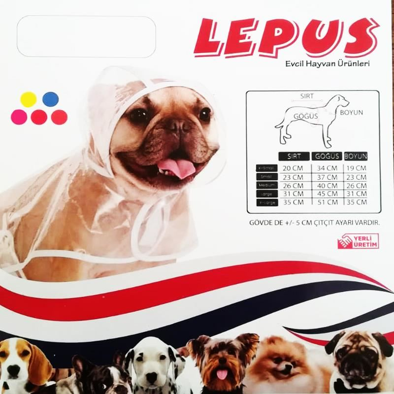 Lepus Köpek Yağmurluğu XLarge Mavi