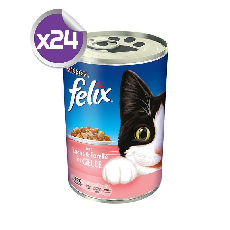 Purina Felix Somon ve Alabalıklı Kedi Konservesi 400 Gr X24