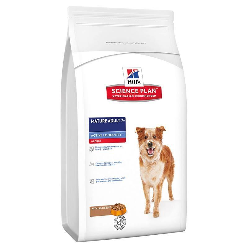 Hills Senior Lamb Rice +7 Kuzulu Pirinçli Yaşlı Köpek Maması 3 Kg