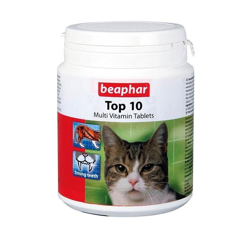 Beaphar Top 10 Cat-Kediler İçin Komple Vitamin 180 Tablet