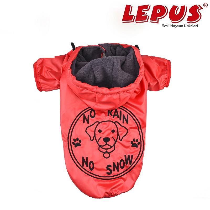 Lepus Küçük Irk Köpek Yağmurluk Mont Kırmızı Medium