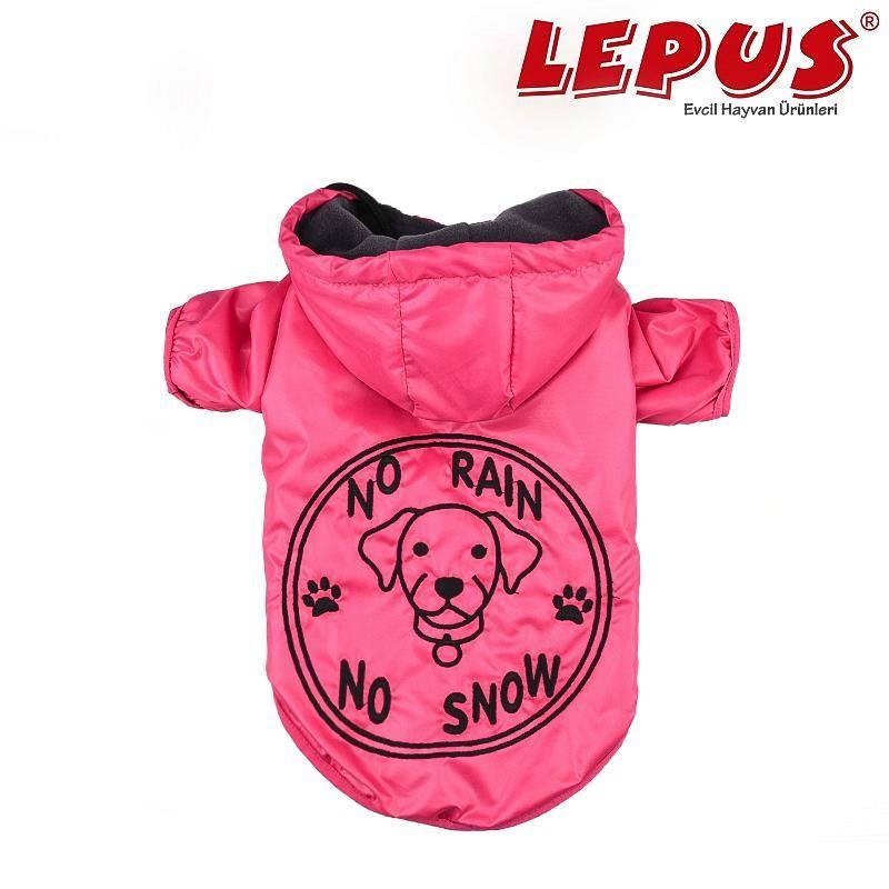 Lepus Köpek Yağmurluk Mont Fuşya Small