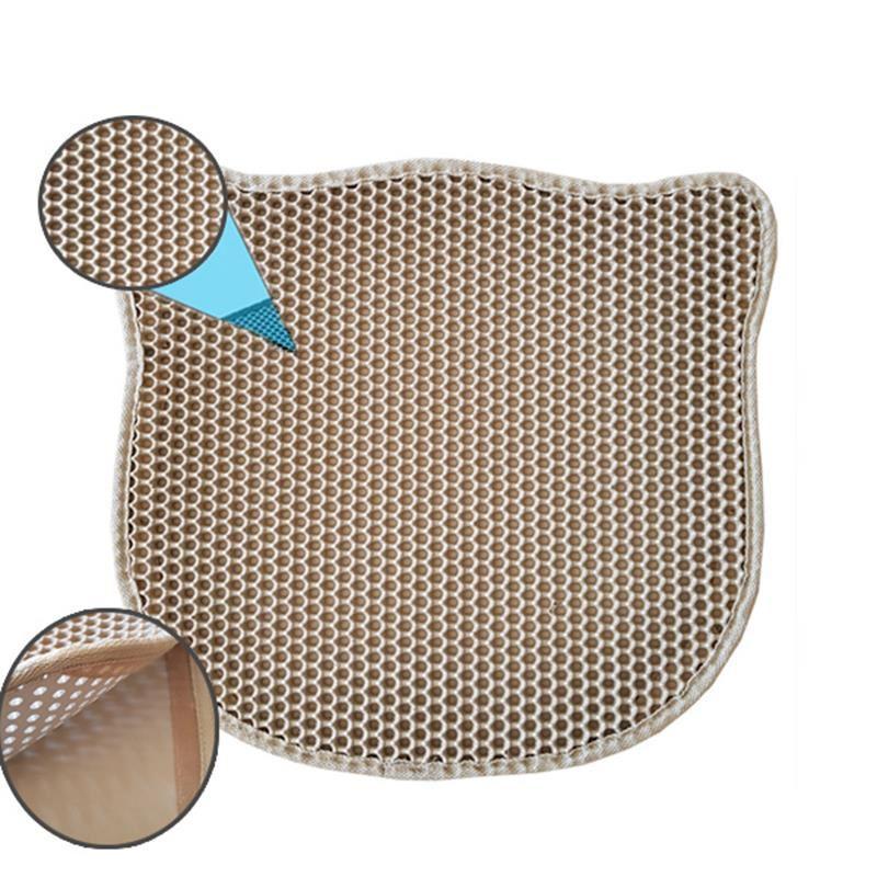 Pets Kedi Şekilli Elekli Kum Toplama Paspası Krem 43x50 Cm