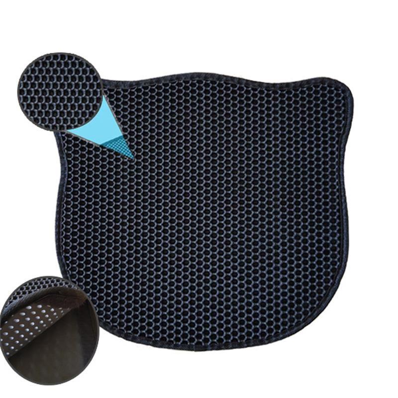 Pets Kedi Şekilli Elekli Kum Toplama Paspası Siyah 58x67 Cm