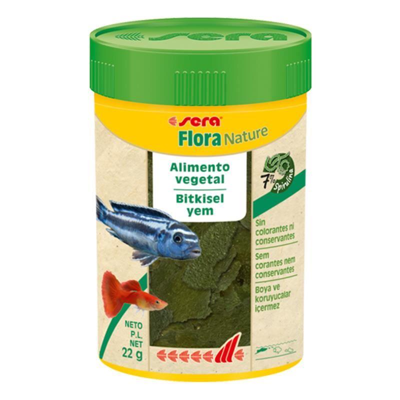 Sera Flora Nature Tropikal Ciklet Balık Yemi 100 Ml 22 Gr