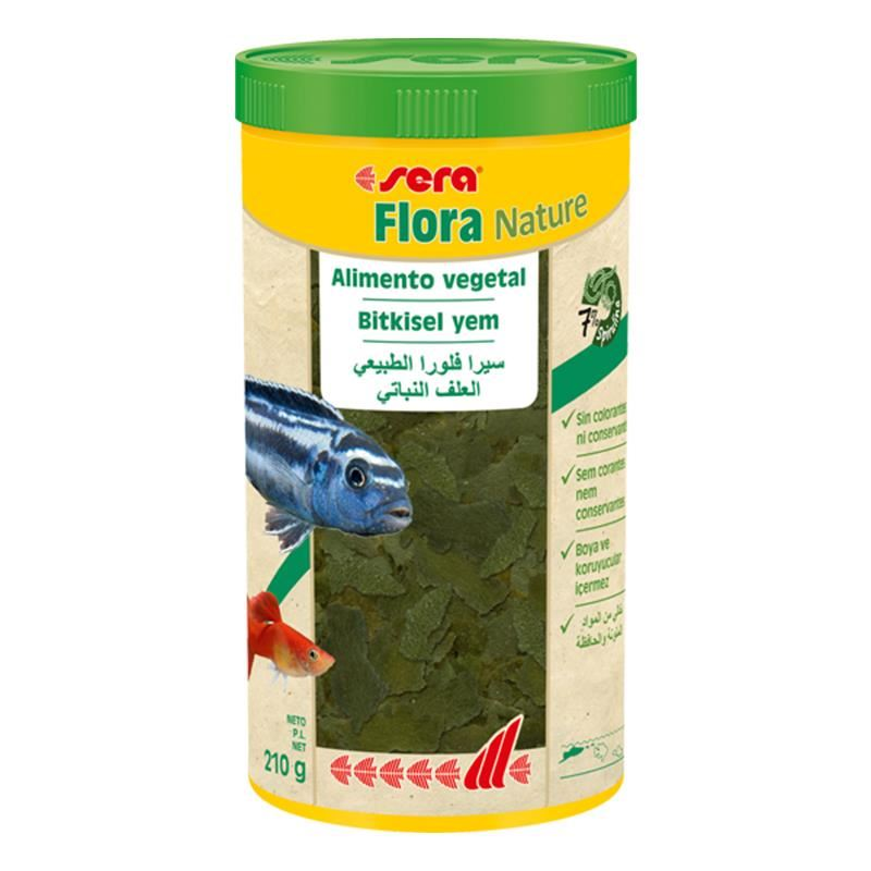 Sera Flora Nature Tropikal Ciklet Balık Yemi 1000 Ml 210 Gr
