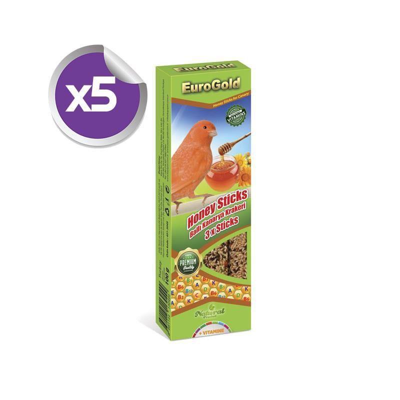 EuroGold Kanaryalar İçin Ballı Kraker 3 lü x5 ADET