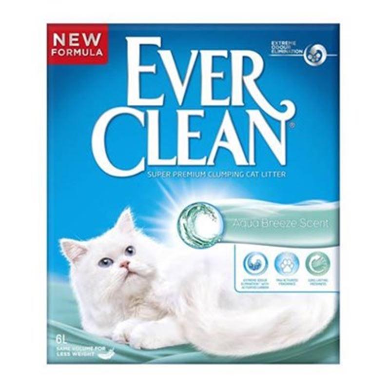Ever Clean Aqua Breeze Okyanus Esintisi Parfümlü Kedi Kumu 6 L