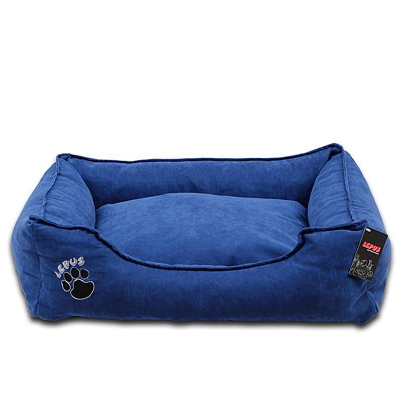 Lepus Soft Fermuarlı Kedi & Köpek Yatağı Mavi Small