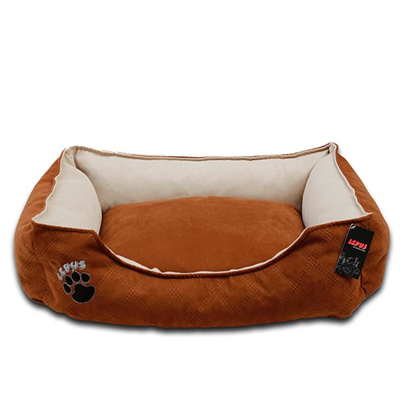 Lepus Soft Plus Köpek Yatağı Kahverengi XLarge