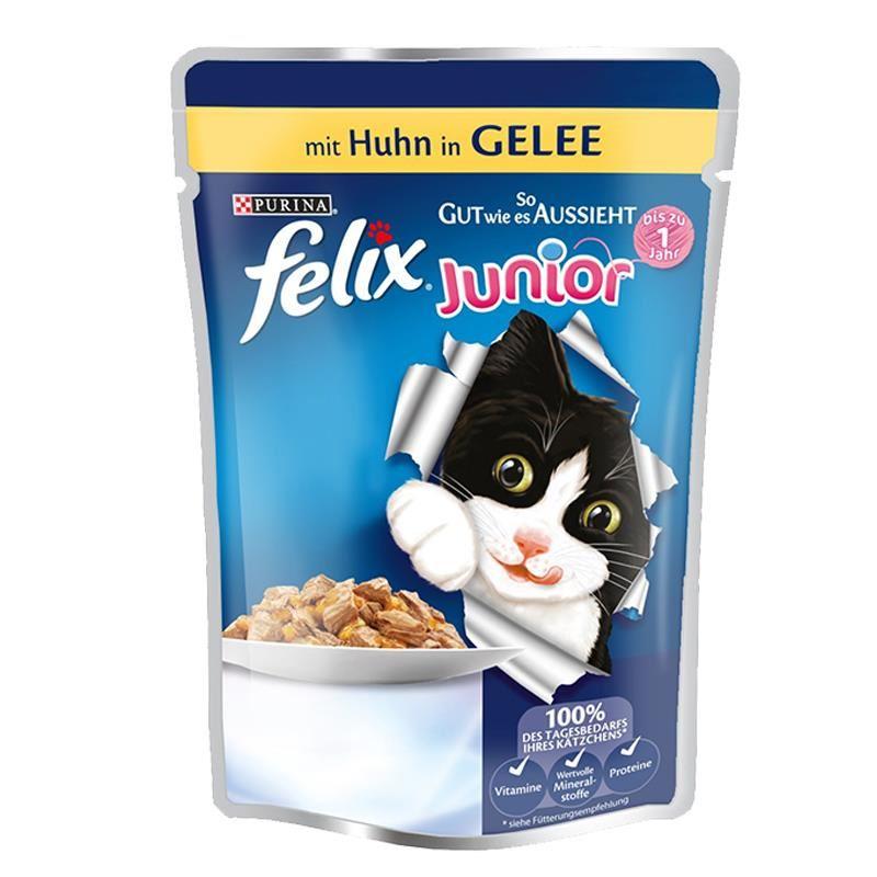 Felix Junior Tavuklu Pouch Yaş Yavru Kedi Maması 100 Gr