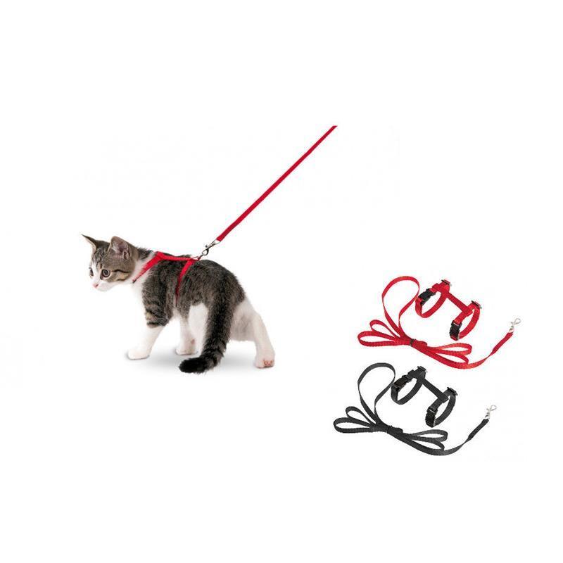 Karlie Art Sportif Yavru Kedi Göğüs Tasması Ve Uzatması 10mm X 110 Cm Kırmızı