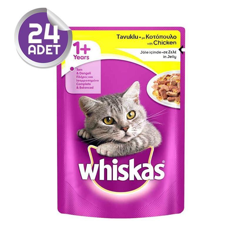 Whiskas Pouch Tavuklu Kedi Konserve Maması 100 Gr X 24