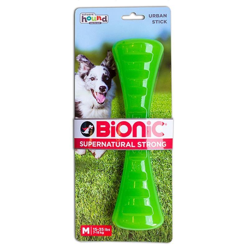Outward Hound Bionic Urban Stick Medium Yeşil Köpek Oyuncağı 23 Cm