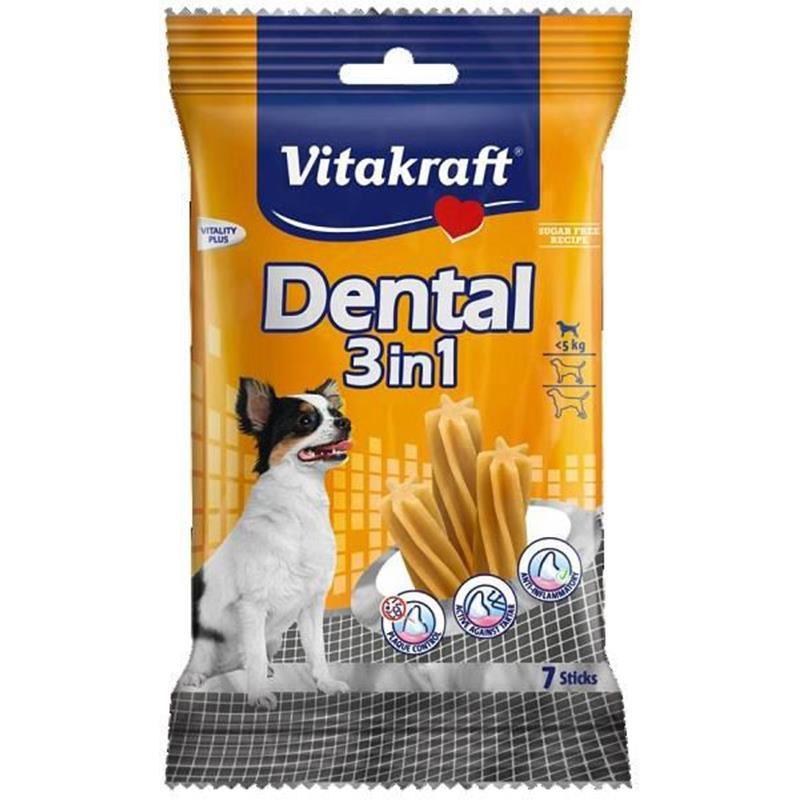 Vitakraft Dental 3in1 Mentol ve Çinko Katkılı Köpek Ödülü