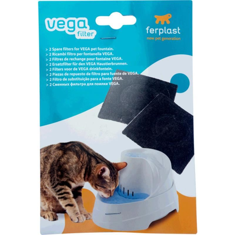 Ferplast Vega Şelale Su Kabı Yedek Filtre 2'li Paket