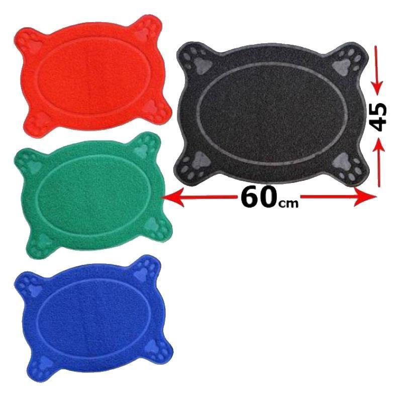 Maxi Life Elips Tuvalet Önü Paspası Kırmızı 60x45 Cm