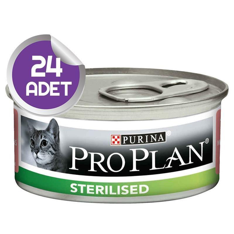 Proplan Sterilised Somonlu Kısırlaştırılmış Kedi Konservesi 85 Gr x 24