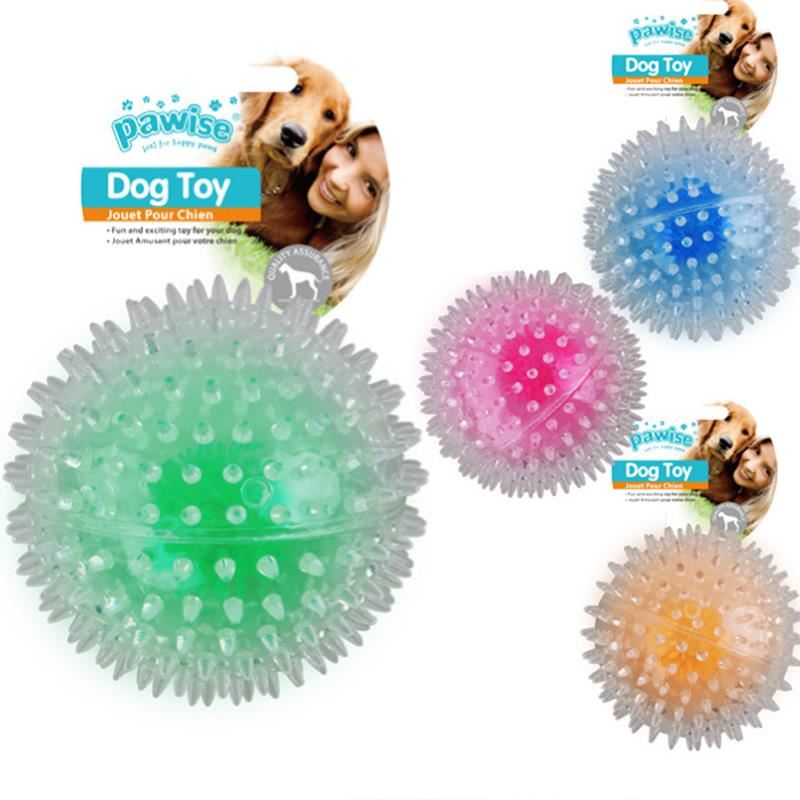 Pawise Flash Bouncer Ball Işıklı Şeffaf Plastik Top Köpek Oyuncağı 8 cm
