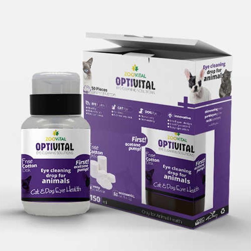 Zoovital Optivital Göz Solüsyonu 150ml -  (Disk Pamuk Hediyeli)