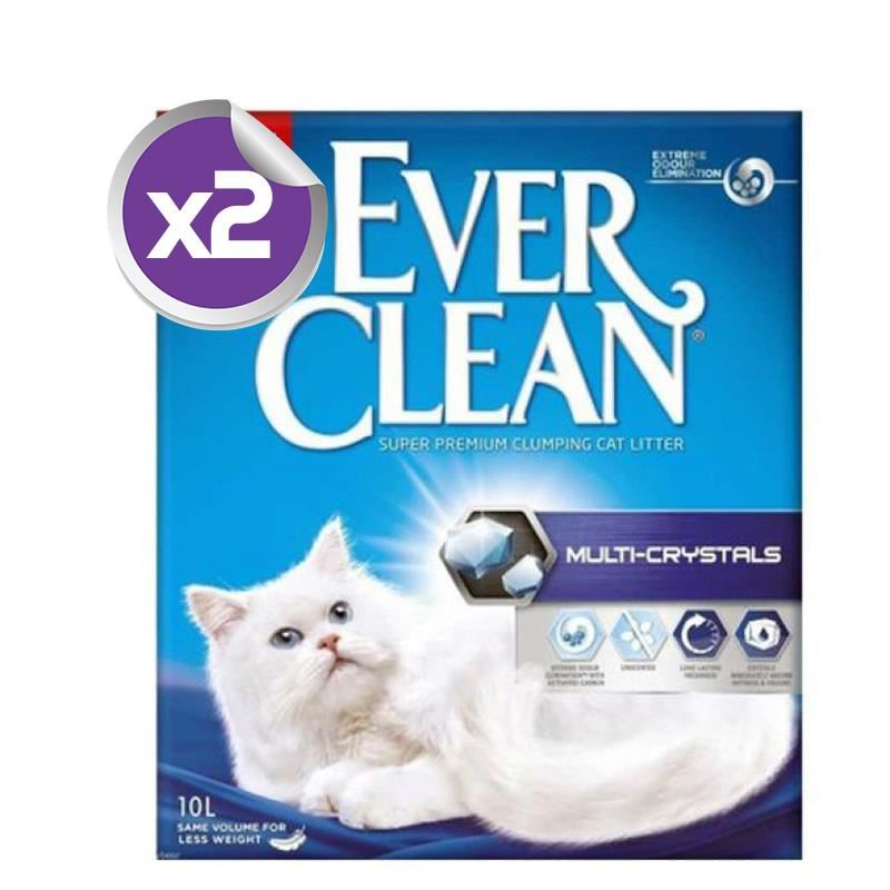 Ever Clean Multi Crystal Blend Multi Kristal Kedi Kumu 10 Lt x2 ADET