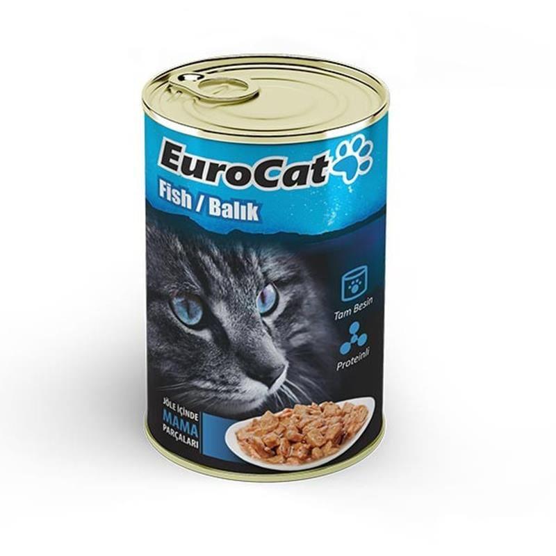 EuroCat Kedi Konservesi Balık Etli 415 Gr