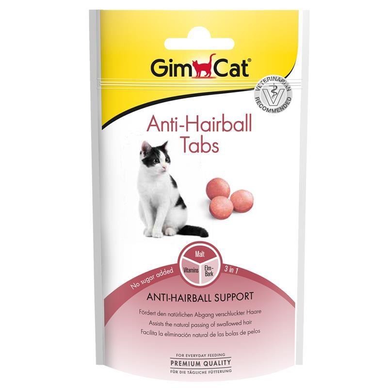 GimCat Anti-Hairball Tüy Sağlığı için Şekersiz Kedi Ödül Tableti 40 Gr