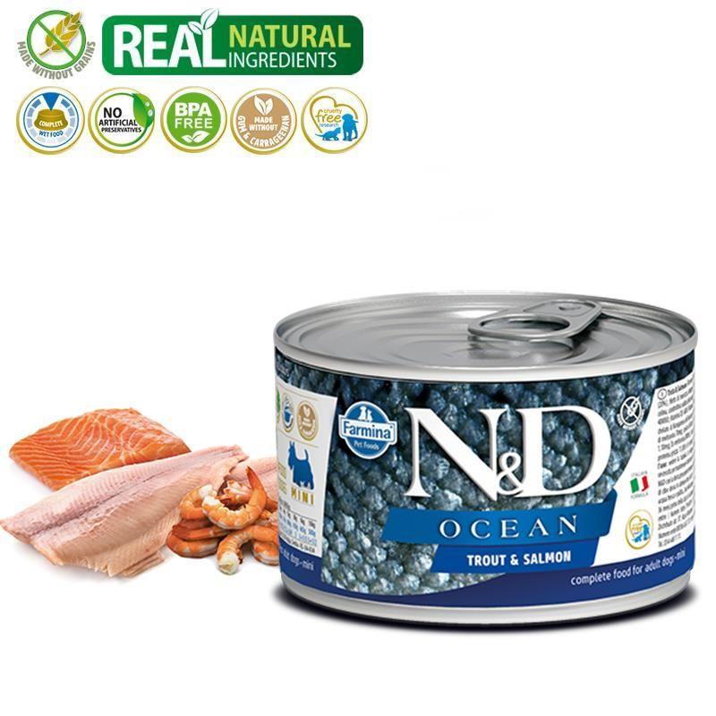 ND Ocean Mini Alabalık Somonlu Köpek Konservesi 140 Gr