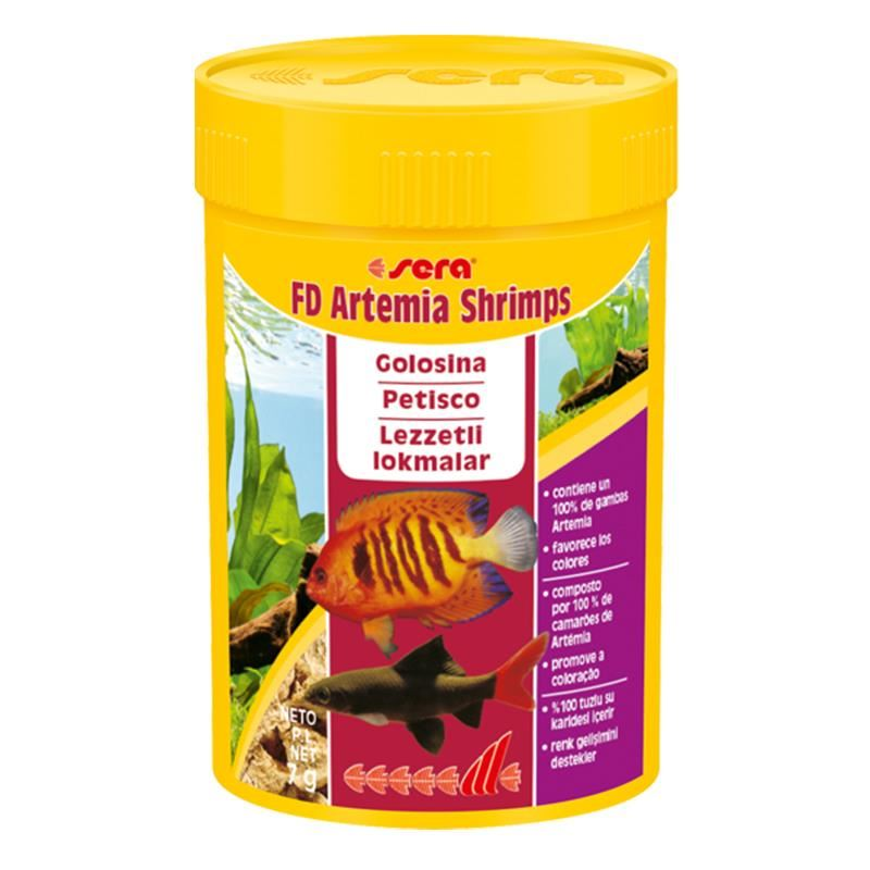 Sera FD Shrimps (Artemia) 7 Gr 100 Ml