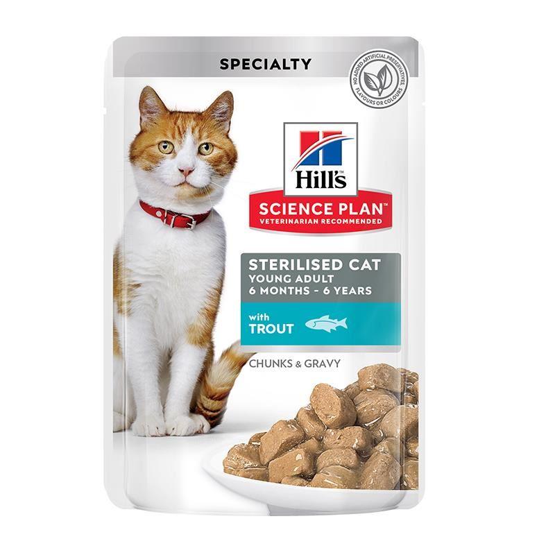 Hills Tender Chunks In Gravy Alabalıklı Kısırlaştırılmış Kedi Konservesi 85 Gr