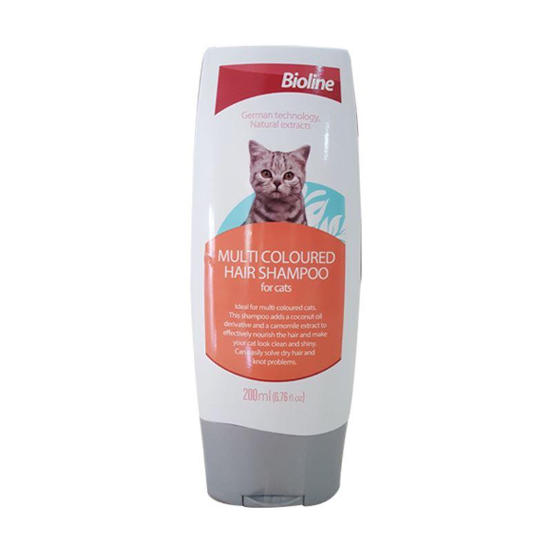 Bioline Çok Renkli Tüylü Kediler İçin Şampuan 200 Ml