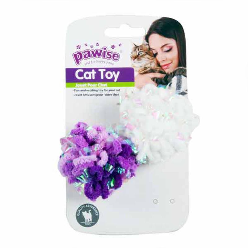 Pawise 2 Pk Glitter Caddice Balls
