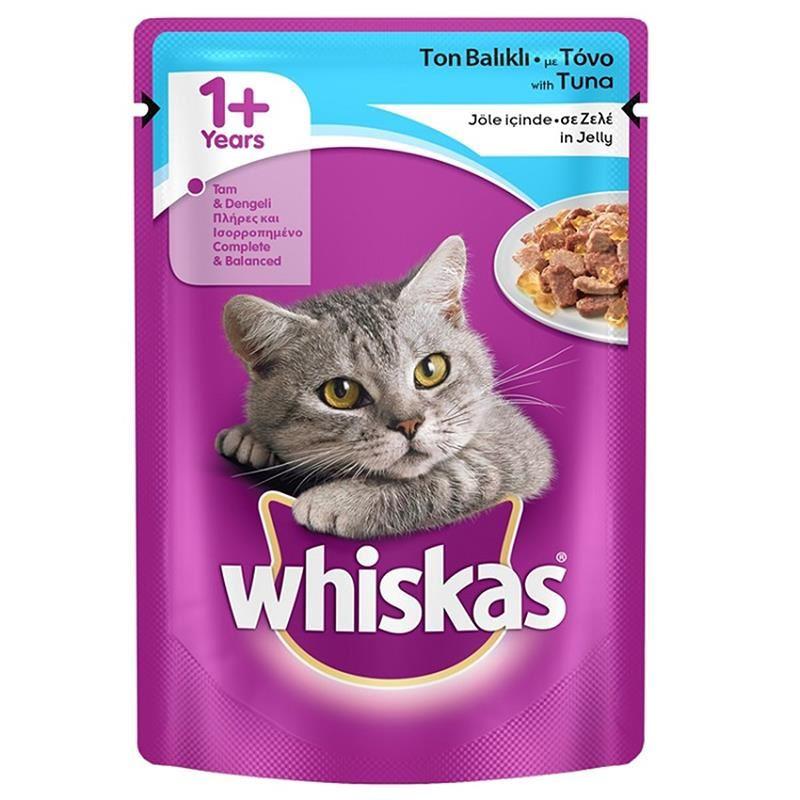 Whiskas Pouch Ton Balıklı Yetişkin Kedi Konservesi 100 Gr