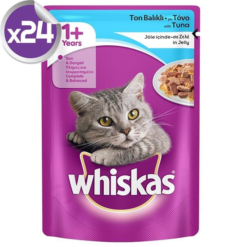 Whiskas Pouch Ton Balıklı Yetişkin Kedi Konservesi 100 Gr X 24