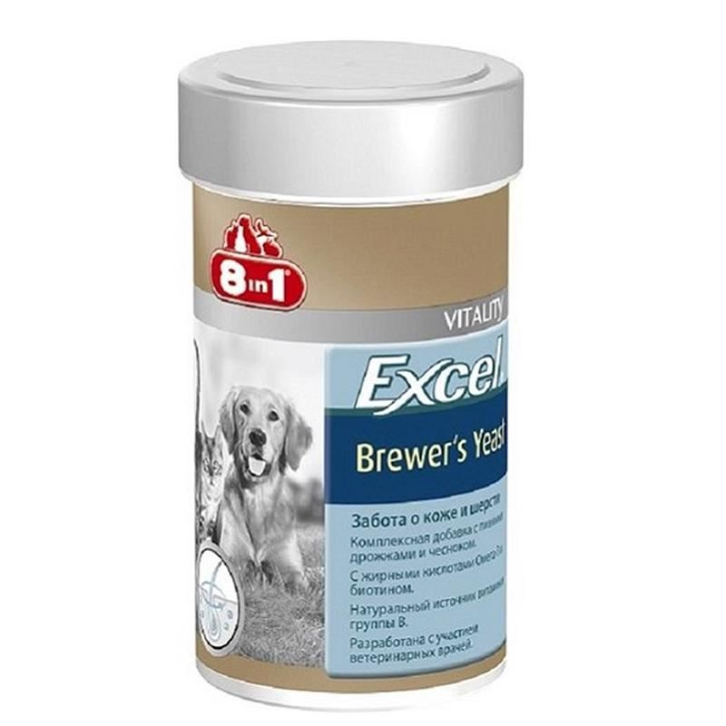 8in1 Excel Brewers Yeast Kedi Ve Köpek Vitamini 140 Tablet