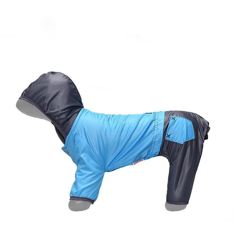 Lepus Küçük Irk Köpek Tulum Yağmurluk Turkuaz XLarge