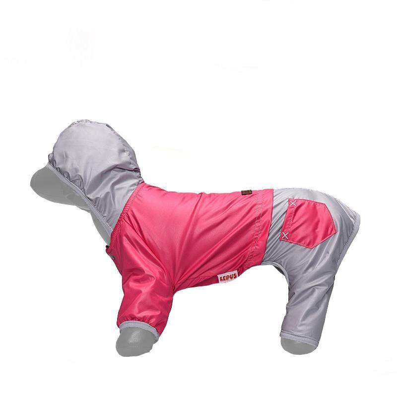 Lepus Küçük Irk Köpek Tulum Yağmurluk Fuşya Large