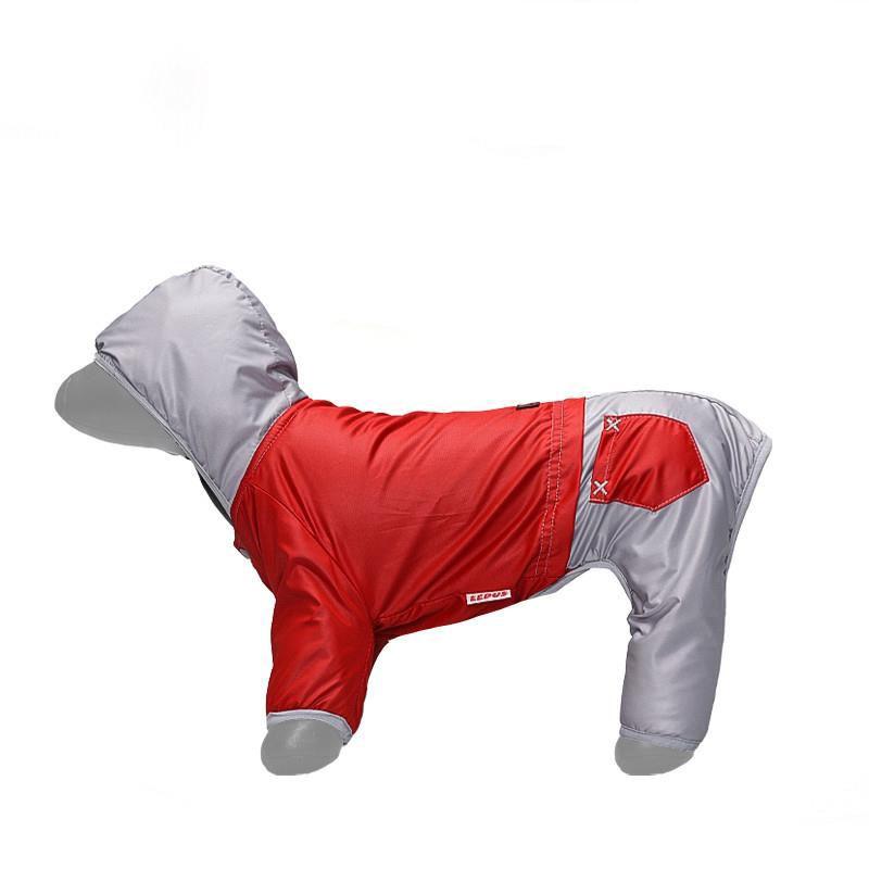 Lepus Küçük Irk Köpek Tulum Yağmurluk Kırmızı Large