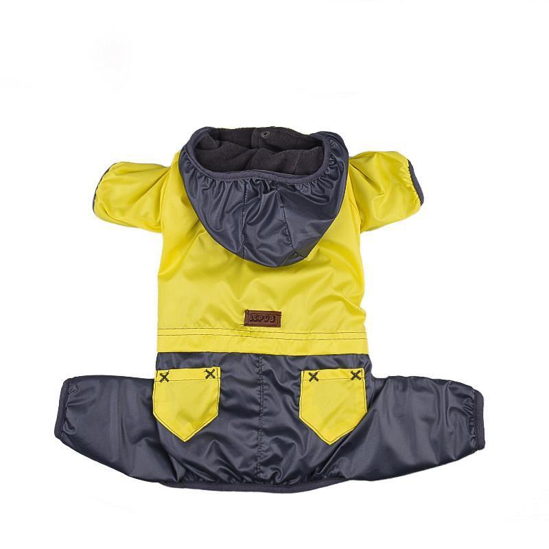 Lepus Küçük Irk Köpek Tulum Yağmurluk Sarı Small