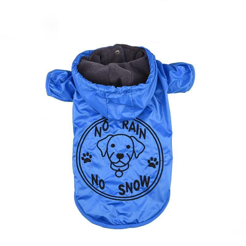 Lepus Küçük Irk Köpek Yağmurluk Mont Mavi XLarge